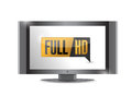 Tv with full hd high definition button illustration design Royalty Free Stock Photography