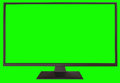 TV with green screen Royalty Free Stock Photo