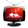 TV icon Stock Photo