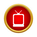 TV icon in simple style