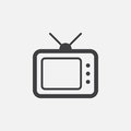 TV icon, vector logo illustration, pictogram isolated on white.