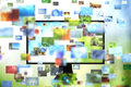 Tv with images Royalty Free Stock Images