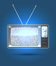 Tv interference realistic set with white noise on the screen eps Stock Photography