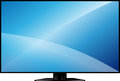 Tv with a large blank screen new model flat on stand Royalty Free Stock Image