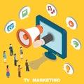 TV marketing Royalty Free Stock Photo