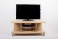TV on mobile stand trolley side table