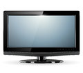 Tv monitor lcd vector illustration Royalty Free Stock Photos