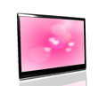 Tv monitor over white surface Royalty Free Stock Photos