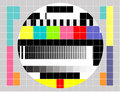 TV multicolor signal test pattern Royalty Free Stock Photos