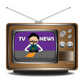 TV news Royalty Free Stock Photos