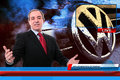 TV News reporter on Volkswagen fraud scandal Royalty Free Stock Photo