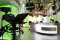 TV news studio setup Royalty Free Stock Photo