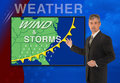 TV news weather meteorologist anchorman reporter Royalty Free Stock Photo