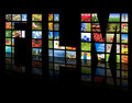 TV panels. Television production Royalty Free Stock Photo