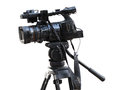 TV Professional studio digital video camera isolated on white Royalty Free Stock Photo