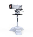Tv professional studio digital video camera on white background d render Stock Photography