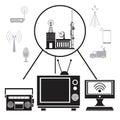 Tv radio internet transmission signal Royalty Free Stock Photo