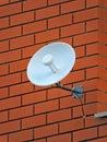 TV radio internet wifi antenna, telecommunication wireless technology Royalty Free Stock Photo