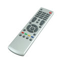 Tv remote control on white background with clipping path Royalty Free Stock Photo