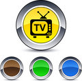 TV round button. Royalty Free Stock Photography