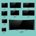 TV screen lcd monitor template electronic device technology digital device display vector illustration.