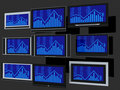 TV screens Stock Image