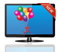 Tv set on sale illustration white background Royalty Free Stock Image