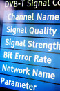 Tv signal menu Royalty Free Stock Photo
