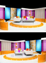 Tv studio design Stock Images