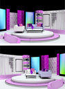 Tv studio design Stock Photos