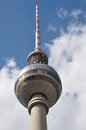 Tv tower the berlin in april Stock Photos