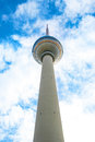 Tv tower in berlin with beautiful clouds Royalty Free Stock Images