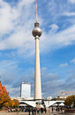 Tv tower fernsehturm in berlin germany october view of germany on october the was built by architects fritz dieter Royalty Free Stock Image