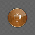 Tv wood application icons this is file of eps format Stock Photo