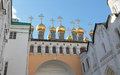 Tvelve Apostle church and Patriarch Palace, Moscow Kremlin Royalty Free Stock Photo