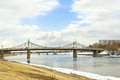 Tver cityscape city beach river volga and the bridge over the river Royalty Free Stock Photos