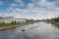 Tverts river embankment to torzhok russia may in the city Stock Image