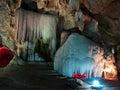 Twain stalactite wall Royalty Free Stock Photography