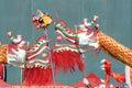 Twee draken spelen parel Royalty-vrije Stock Foto