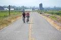 Twee washington cyclists Royalty-vrije Stock Afbeeldingen