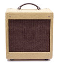 Tweed amp vintage guitar amplifier isolated on white background Stock Photo