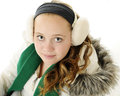 Tween-Winter-Portrait Lizenzfreie Stockbilder