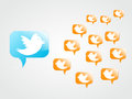 Tweeting to followers Royalty Free Stock Photo