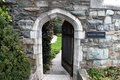 Twelfth Century Norman Stone Arch Entrance Royalty Free Stock Photos