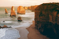 The twelve Apostles along the famous Great Ocean Road. Royalty Free Stock Photo