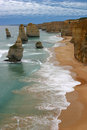 Twelve apostles in Australia Royalty Free Stock Photo