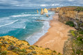 The twelve apostles is most scenic part of great ocean road between melbourne and adelaide Royalty Free Stock Photos