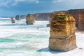 Twelve apostles natural landmark near the great ocean road victoria australia Stock Photography