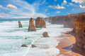 Twelve apostles natural landmark near the great ocean road victoria australia Stock Photos