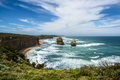 Twelve apostles the popular attraction the on the great ocean road in southern australia victoria Royalty Free Stock Photo